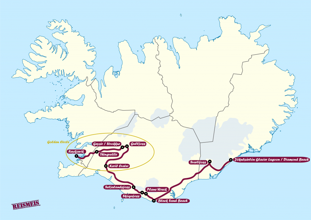 Route Iceland